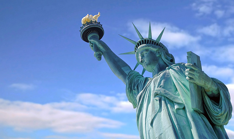 Stock image of the Statue of Liberty